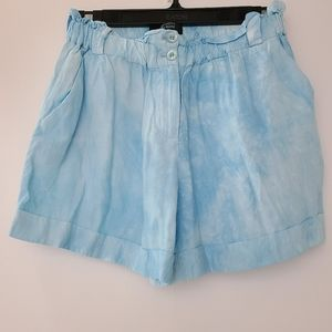EUC Guess by Marciano Blue Tie Dye Paperbag Shorts